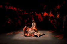 In Time of Roses Shakespeare War of the Roses Death Pieta - Projection Design by Sarah Tundermann