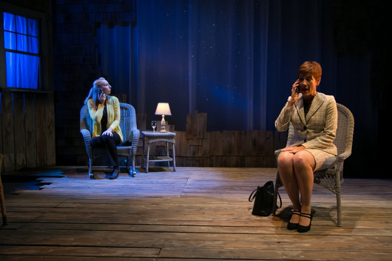 Julianne talks to her daughter in The Other Place at Rep Stage