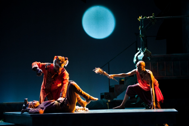 Mowgli fights off Shere Khan - The Jungle Book at IStage